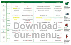 Image of Garlinge Primary school menu